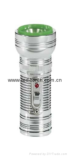 LED Metal/Steel Flashlight/Torch FT1DE7 1