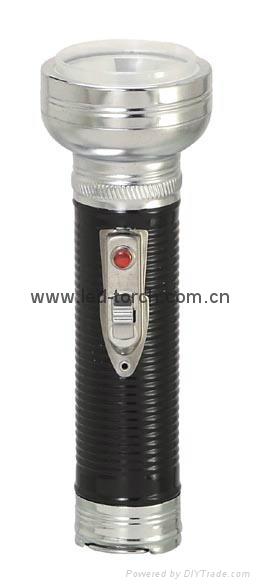 LED Metal/Steel Black Flashlight/Torch FT2DE8B
