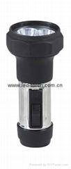 LED Metal/Steel-Plastic Flashlight/Torch FTJ1DE2