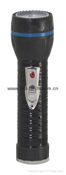 LED Metal/Steel-Plastic Colour Flashlight/Torch TWJ2DE1B 1
