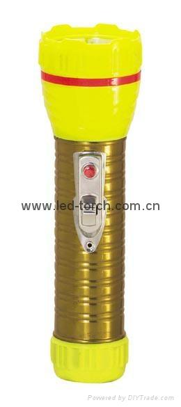 LED鐵塑彩色手電筒 TWA2DE1EC 1