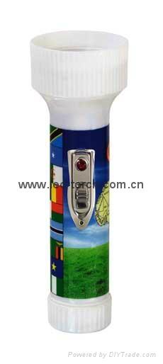 LED Colour Plastic Flashlight/Torch FTJ99E2 1