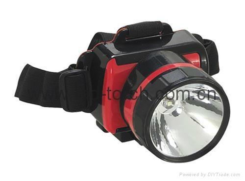 ED Plastic Headlamp/Headlight HL-808(1LED)