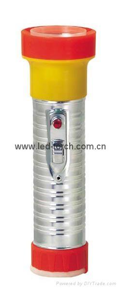 LED Metal/Steel-Plastic Colour Flashlight/Torch TWB2DE1C
