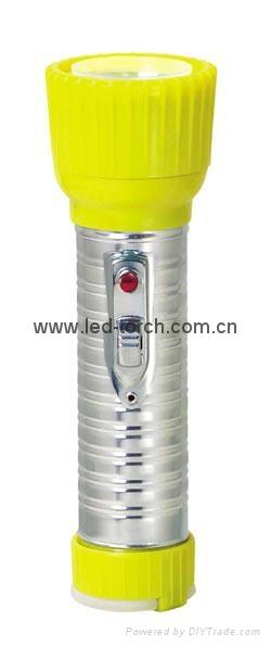 LED鐵塑彩色手電筒 TWD2DE1C 1