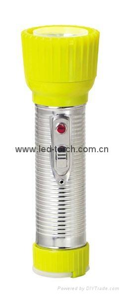 LED鐵塑彩色手電筒 TWD2DE1C 2