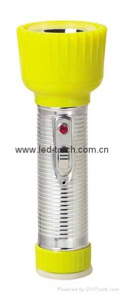 LED鐵塑彩色手電筒 TWD2DE2C 3