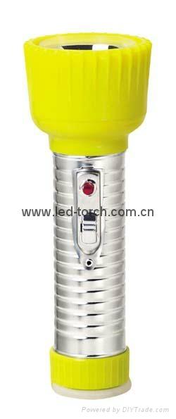 LED鐵塑彩色手電筒 TWD2DE2C 1