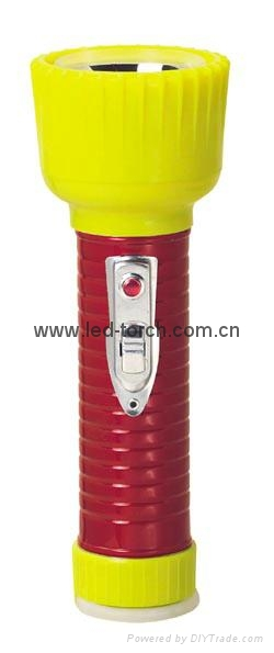 LED Metal/Steel-Plastic Colour Flashlight/Torch TWD2DE2EC