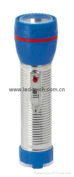 LED Metal/Steel-Plastic Colour Flashlight/Torch TWJ2DE1C