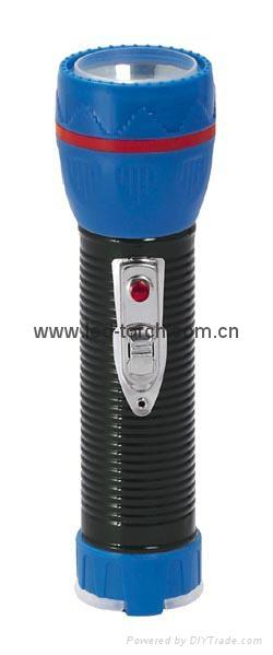 LED Metal/Steel-Plastic Colour Flashlight/Torch TWJ2DE1BC 1