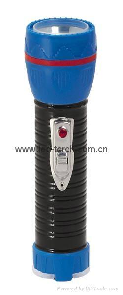 LED Metal/Steel-Plastic Colour Flashlight/Torch TWJ2DE1BC 2
