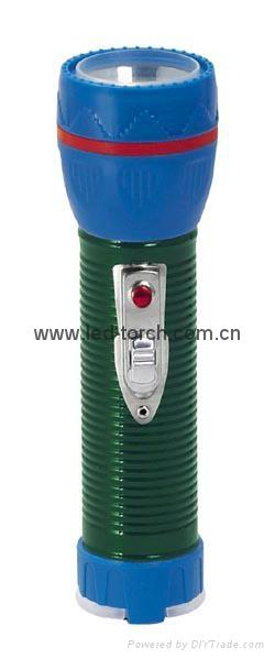 LED Metal/Steel-Plastic Colour Flashlight/Torch TWJ2DE1EC