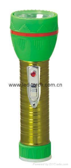 LED鐵塑彩色手電筒 TWJ2DE2EC 1