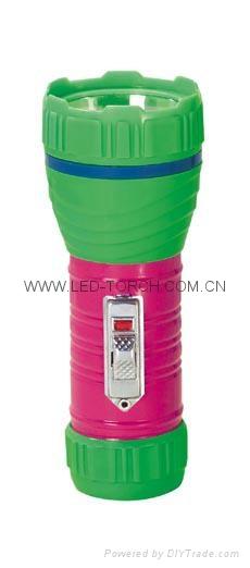 LED Metal/Steel-Plastic Colour Flashlight/Torch TWA1DE1PC