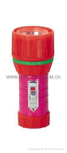 LED Metal/Steel-Plastic Colour Flashlight/Torch TWC1DE1PC
