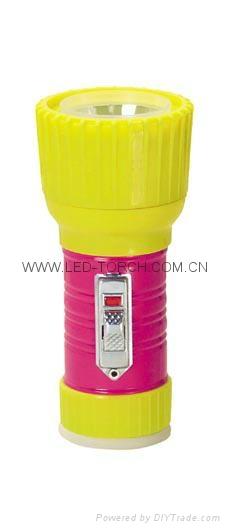 LED Metal/Steel-Plastic Colour Flashlight/Torch TWD1DE1PC