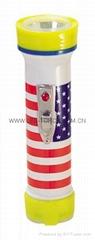 LED彩色塑料手電筒 TWP101