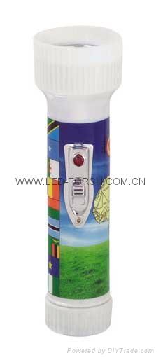 LED Colour Plastic Flashlight/Torch FTJ99E1