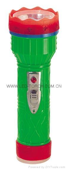 LED彩色塑料手電筒 PM350 1