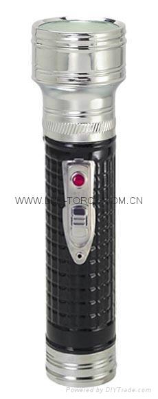 LED金屬/鐵質黑色手電筒 FT2DE3B 4