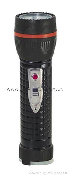 LED Metal/Steel-Plastic Colour Flashlight/Torch TWJ2DE1B 4