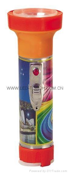LED Metal/Steel-Plastic Colour Flashlight/Torch TWB2DE2PC 1