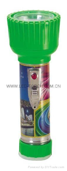LED Metal/Steel-Plastic Colour Flashlight/Torch TWD2DE2PC 1