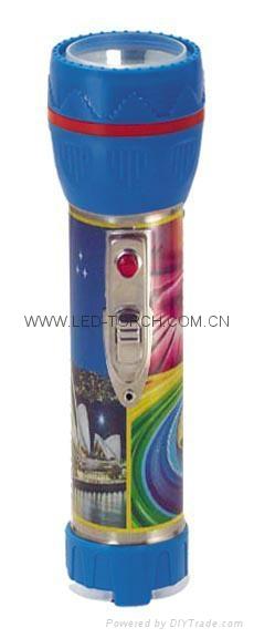 LED彩色鐵塑手電筒 TWJ2DE1PC 1
