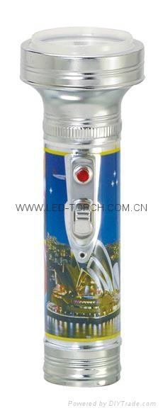 LED金屬/鐵質圖案手電筒 FT2DE2P 1