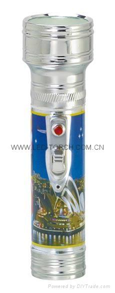 LED金屬/鐵質圖案手電筒 FT2DE3P 1