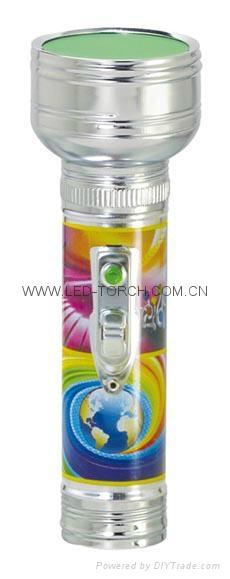 LED金屬/鐵質圖案手電筒 FT2DE10P 1