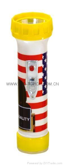 LED彩色塑料手電筒 PE300P 1