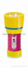 LED鐵塑彩色手電筒 TWX1DE1PC