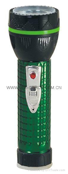 LED Metal/Steel-Plastic Colour Flashlight/Torch TWJ2DE2E 4