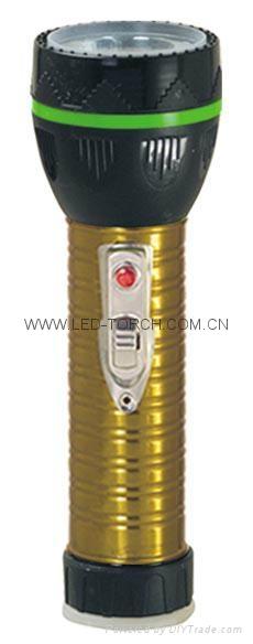 LED Metal/Steel-Plastic Colour Flashlight/Torch TWJ2DE2E 2