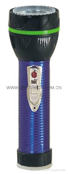 LED Metal/Steel-Plastic Colour Flashlight/Torch TWJ2DE2E 1