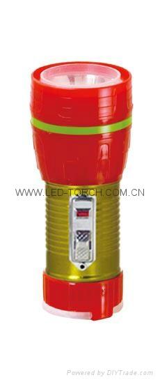 LED鐵塑彩色手電筒 TWF1DE1EC 1
