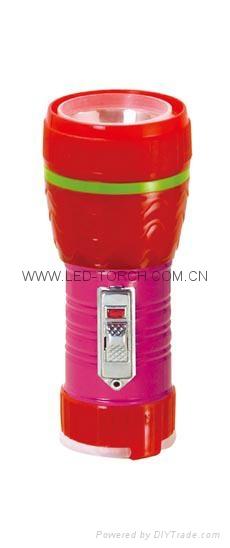 LED鐵塑彩色手電筒 TWE1DE1PC 1