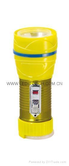 LED鐵塑彩色手電筒 TWG1DE1EC 1