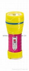 LED鐵塑彩色手電筒 TWG1DE1PC