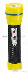 LED鐵塑彩色手電筒 TWG2DE1BC