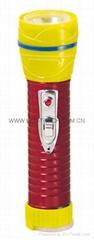 LED鐵塑彩色手電筒 TWG2DE1EC