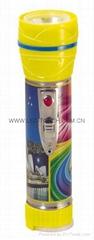 LED鐵塑彩色手電筒 TWG2DE1PC