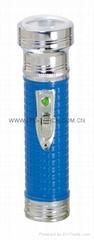 LED Metal/Steel-Plastic Colour Flashlight/Torch FTP2DE1C