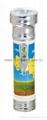 LED Colour Metal/Steel-Plastic Flashlight/Torch KF3001