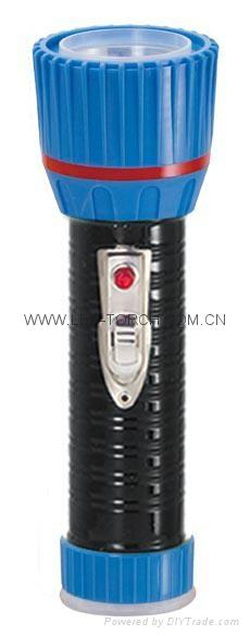 LED鐵塑彩色手電筒 TWX2DE1BC 1