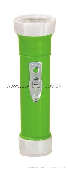 LED彩色塑料手電筒 TWP2DE3C 1