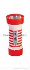 LED彩色塑料手電筒 TWP1DE1PS