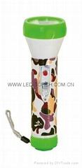 LED彩色塑料手電筒 JPB200